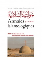 Annales islamologiques 52